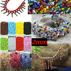 2000 Pcs Colorful Round Czech Glass Spacer Loose Beads Jewelry Dia.2mm Hole:1mm