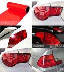 Glossy Red Vinyl Wrap Overlay Film For Tail Lamps Lights Sidemarkers -12 x 48""