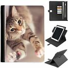 U-CATB03 CUTE UNIVERSAL PROTECTIVE TABLET LEATHER FLIP WALLET 360 SWIVEL CASE