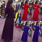 Women Ladies Sexy Long Sleeve Maxi Dress Cocktail Evening Party Long Dresses E