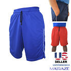 Внешний вид - Mens Basketball Gym Fitness Workout Athletic Shorts with 2 Pockets M-XL Fast Dri