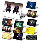 Pokemon Cartoon Painted Rubberized Matte Hard Case +KB Cover For Macbook Pro Air