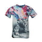 New Style Womens Mens The Thinker Printing Abstract 3D Print Casual T-Shirt TB