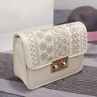 Fashion women's Hollow metal button Messenger Bag Chain bag Small square package