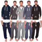 Mens Plain Basic Hoody Mens Zip Up Hooded Top Bottoms Sweats Pants S M L 3XL 4XL