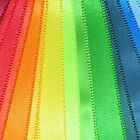 Plain Satin Ribbon Mixed Multipack Polyester - 30 Colours - Widths 3mm To 25mm