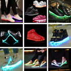 LED Light Flashing Luminous Shoes Lace Up Sportswear Sneakers Athletic Casual US