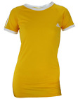 Adidas Women's Short Sleeve Striped Raglan Tee, Gold-White