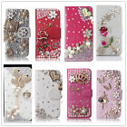 Fashion PU Leather Diamond Jewelled Rhinestone Bling Crystal Wallet Case Cover