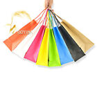Colorful Kraft Paper Gift Bag with Handle Shopping Party Supply Customized Print