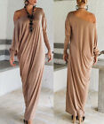 Women Casual Autum Spring Long Sleeve Loose Maxi Dress Cocktail Party Dress EMA1