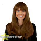 HEAT AND STYLE WIGS STRAIGHT BROWN HEAT RESISTANT HAIRPIECE FANCY DRESS WIG