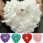 Rose Wedding Favors Heart Shaped Jewelry Gift Ring Box Pillow Cushion Romantic