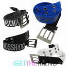 Crosshatch Designer Mens Canvas Belt Mens Branded Buckle Belt Belts S M L XL