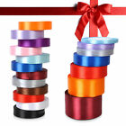 25 Yards Satin Ribbon Wedding Party Decoration Craft Sewing Many Colors