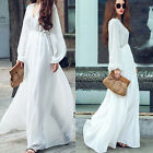 Elegant Womens Celeb Summer Chiifon V-Neck Ladies Party Evening Maxi Long  Dress