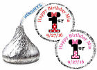 216 MINNIE MOUSE FIRST 1st BIRTHDAY HERSHEY KISS KISSES LABELS ~ number design