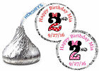 216 MINNIE MOUSE SECOND 2nd BIRTHDAY HERSHEY KISS KISSES LABELS ~ number design