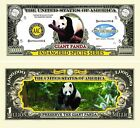 Endangered Giant Panda Million Dollar Bill (Pick Quantity 5 to 5000 Bills)