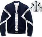 Mens Slim Barrette Baseball Jumper Blouson Jacket Blazer Outwear Top W017 - S/M