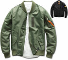 Mens Slim Fit Flight Bomber Jumper Blouson Jacket Blazer Outwear Top W002 - S/M