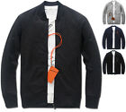 Mens Slim Fit Basic Simple Jumper Blouson Jacket Blazer Outwear Top W004 - S/M/L