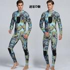 Camo 3mm Neoprene Scuba Dive Wetsuit Men Spearfishing Wet Suit Surf Diving S-2XL