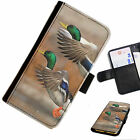 BIRA04 2 DUCKS PRINTED LEATHER WALLET/FLIP PHONE CASE COVER FOR ALL MODELS