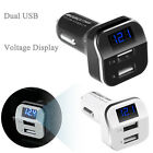 USB 3.1A Car Charger LED Volt Meter Adapter Charge for Tablets Mobile Phone