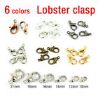 Lots 20/100PcsSilver/Gold/Bronze Lobster Claw Clasps Hooks Findings DIY 10/12MM