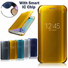 Mirror Smart Clear View Flip Hard Back Case Cover For Samsung Galaxy Note 7