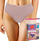 5 Pack Hanes Hi-Cut Briefs With Lace Cotton Panties Women Tagless No Ride Up