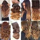 Cosplay 3/4Full Head 1Piece Long Short Straight Curly Clip i