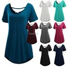 Meaneor Women Short Sleeve Loose-fit Long Length Tunic Top hot sale GT56