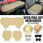 Breathable PU Leather Car Interior Seat Cover Pad Mat Auto Office Chair Cushion
