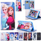 Kids Cartoon Disney Frozen&Star Wars Leather Wallet Case Stand Cover For iPhone