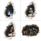 3D Halloween Ghost Terror Wall Stickers Decal Room Home Decoration New