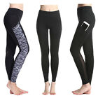 Women Mesh Yoga Gym Running Sports Pocket Pants Stretch Fitness Leggings Trouser