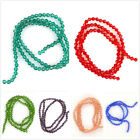 3Strings Transparent Mixed 3 Color Bicone Faceted Crystal Loose Spacer Beads D