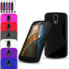 SLIM SILICONE GEL CASE COVER & SCREEN PROTECTOR FOR MOTOROLA MOTO G4 (2016)