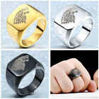 New Man's Stainless Steel ring Game of Thrones wolf Titanium steel Rings S274