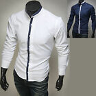 Mens New Luxury Slim Business Casual Dress Shirts Long Sleeve Formal Top W816