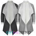 WOMENS OVERSIZED SCUBA JERSEY COAT LADIES WATERFALL CELEB LONG SLEEVE JACKET