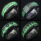 Man's Stainless Steel Ring Noctilucent Superman / Punisher Titanium Steel Rings
