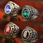 Retro Fashion Man's Stainless Steel Ring Army Soldier Gem Titanium steel Rings