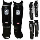 Badboy Gel Shin Instep Foot Pads MMA Leg Kick Guards Muay Thai Boxing Training