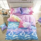 Cloud Sky Bedding Pillowcase Quilt Duvet Cover Set Single Double King Size