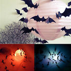 Fashion 12PCS 3D DIY PVC Bat Wall Sticker Decal Halloween Style Decoration Decor