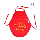 2016 Hot Bright Red Color Aprons Baby Bibs for 0-1 Years Old China Style Bibs