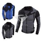 Fashion Men's Slim Collar Jackets Tops Casual Coat Outerwear S-XL
